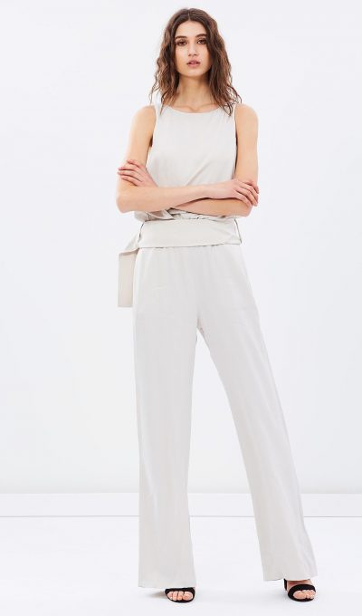 Mng Nude Wide Leg Jumpsuit