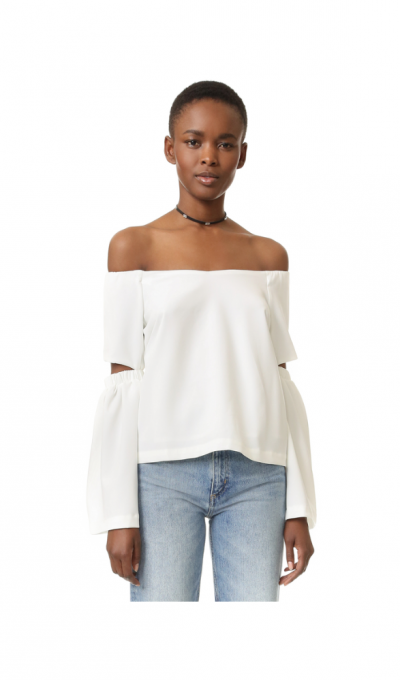 Renamed Off Shoulder Cutout Sleeve Top