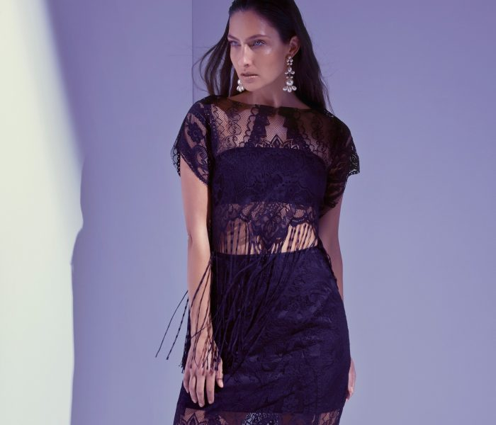 See Need Want Black Party Season Fashion Inspiration Lace Fringing Copy