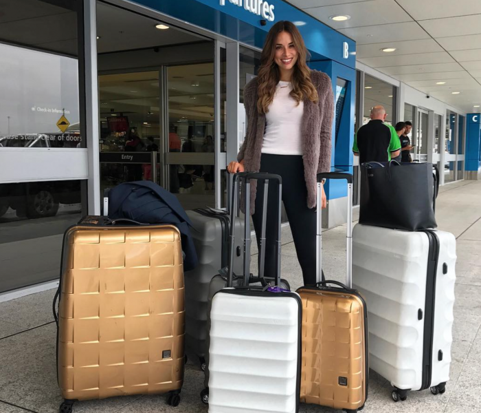 See Need Want Travel Fly Business Class Emirates Monika Radulovic Airport Antler Luggage 2
