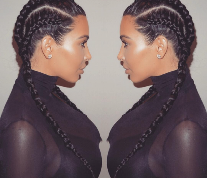 Hair Trend How To Braids Kim Kardashian