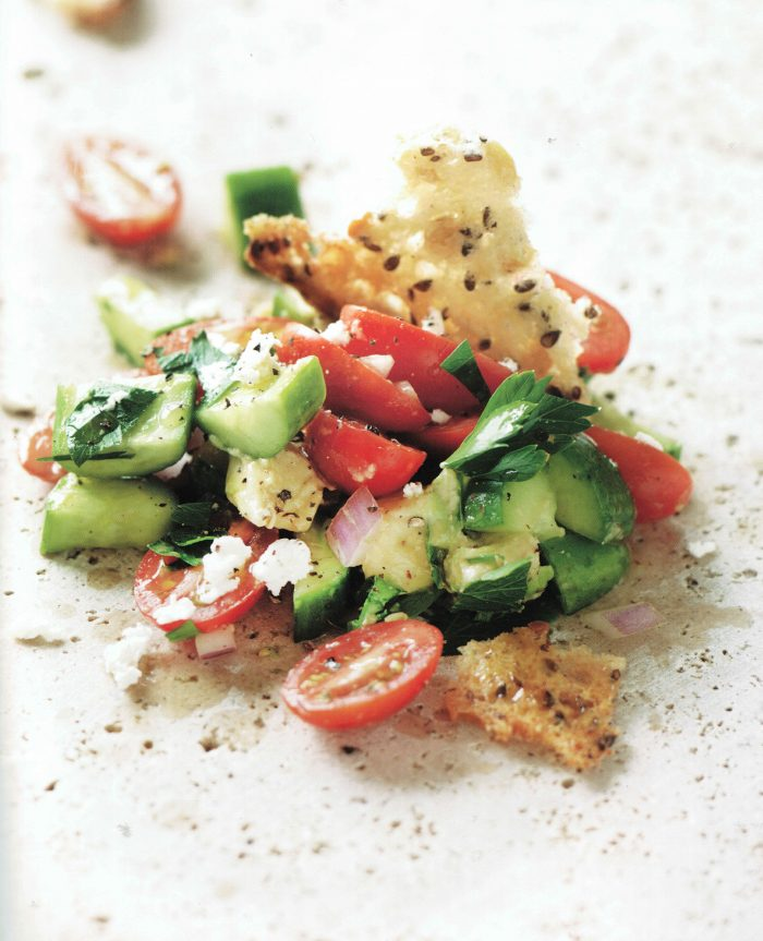 See Need Want Mood Boosting Foods Avocado Cucumber Tomato Bread Salad Recipe