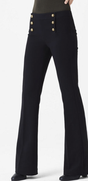 Express Denim Mid Ride Sailor Flare Pant