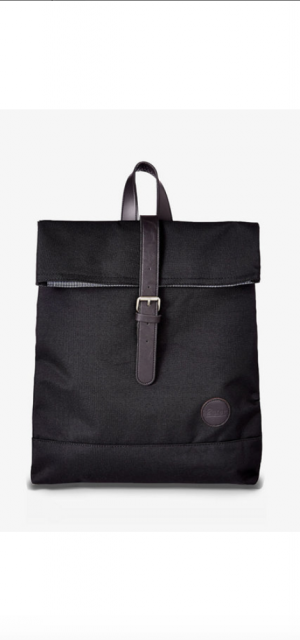 Enter Accessories Enter Accessories Black Fold Top Backpack