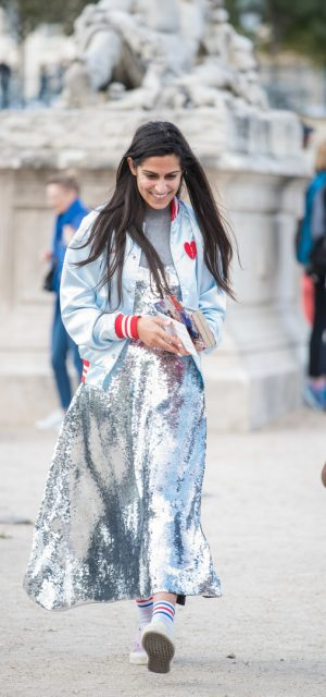 Paris Fashion Week Street Style Trends Mettalics