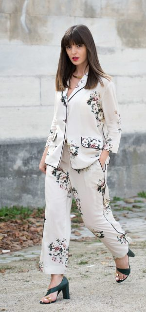 Paris Fashion Week Street Style Trends Pyjama Dressing