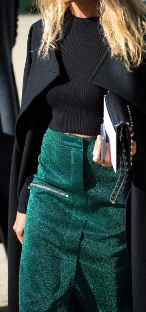 Paris Fashion Week Street Style Trends Velvet