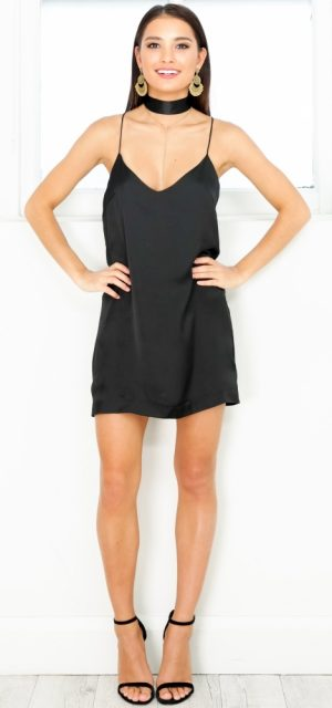 See Need Want Little Black Dress Party Fashion Showpo Slip Dress
