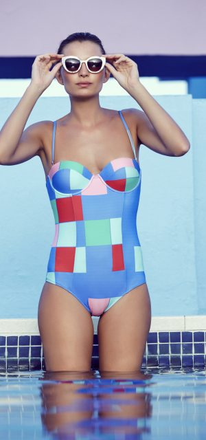 See Need Want Mister Zimi By The Sea Swimear One Piece Geometric Print