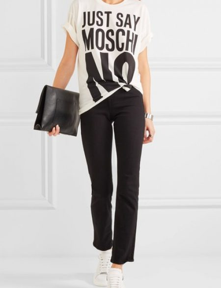 See Need Want Trend Alert Logo Tees Moschino