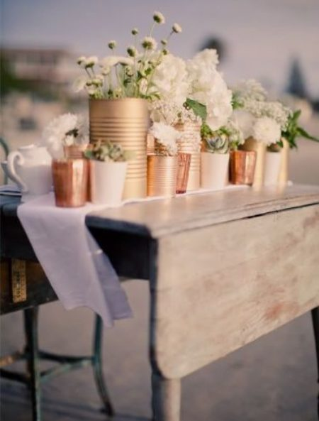 Metallic Wedding Styling Ideas 1