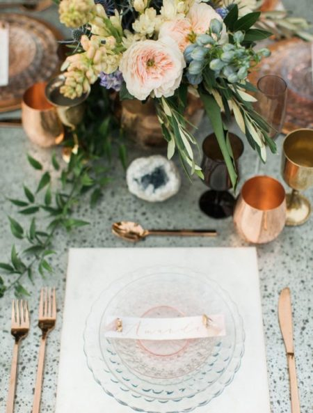 Metallic Wedding Styling Ideas 3