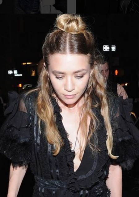 How To Do A Half Topknot Hairstyle Marykate Olsen