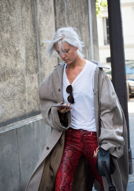 Paris Fashion Week Street Style Trends Snakeskin 1