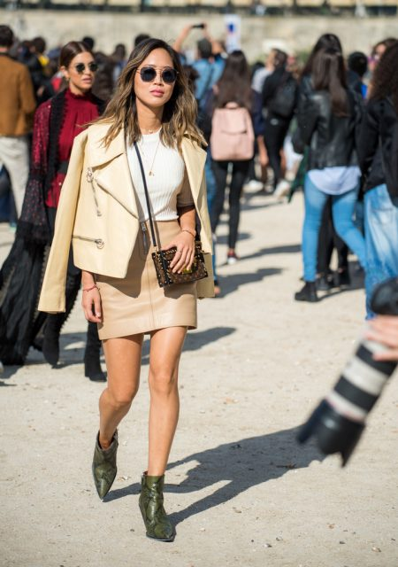 Paris Fashion Week Street Style Trends Snakeskin 2