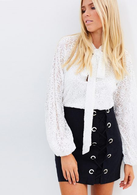See Need Want Fashion Autumn Must Have Laceup Skirt Ministryofstyle