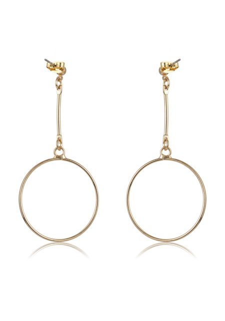 See Need Want Fashion Autumn Must Have Gold Drop Hoop Earrings Thedarkhorse