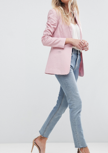 See Need Want Fashion Linen Blazer Asos 2