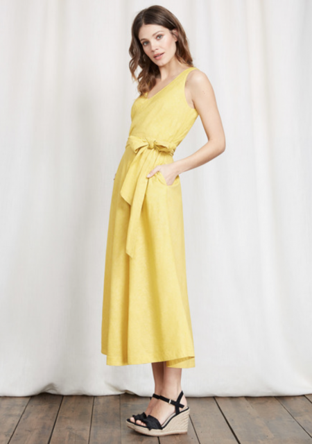 See Need Want Fashion Linen Dress Boden