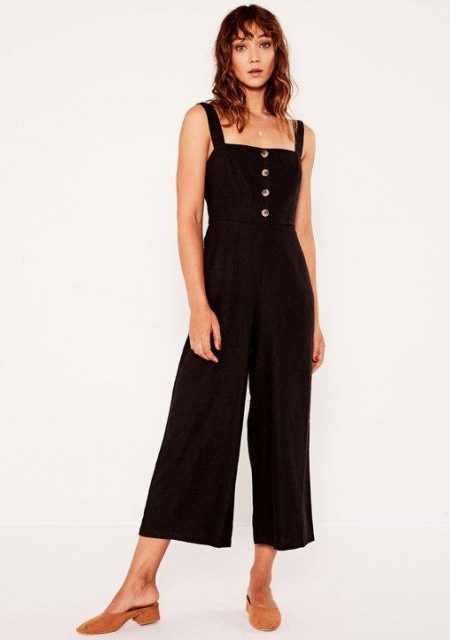 See Need Want Fashion Linen Jumpsuit Glassons