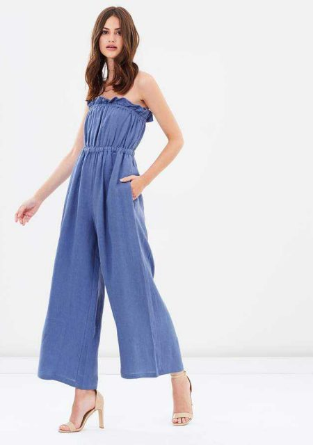 See Need Want Fashion Linen Jumpsuit Steele