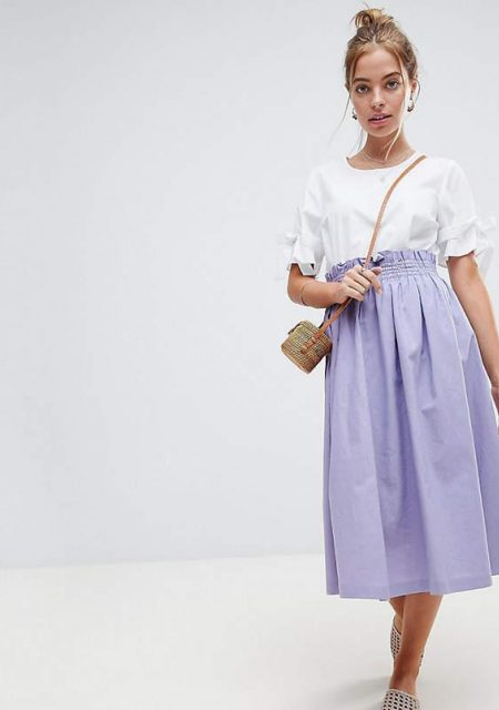 See Need Want Fashion Linen Prom Skirt Asos