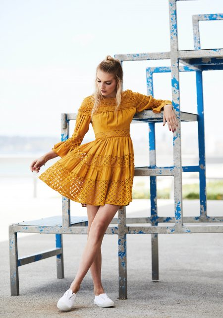 See Need Want Fashion Summer Street Style Trends Colour Yellow Pretty Dress 1