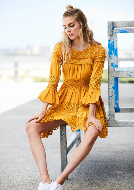 See Need Want Fashion Summer Street Style Trends Colour Yellow Pretty Dress 4