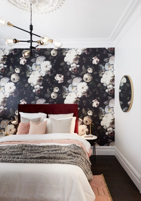 See Need Want Interiors Floral Wallpaper