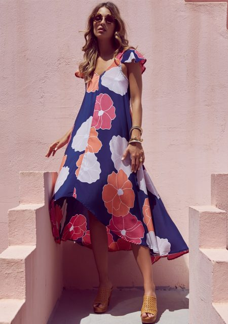 See Need Want Mister Zimi By The Sea Silk Harper Dress