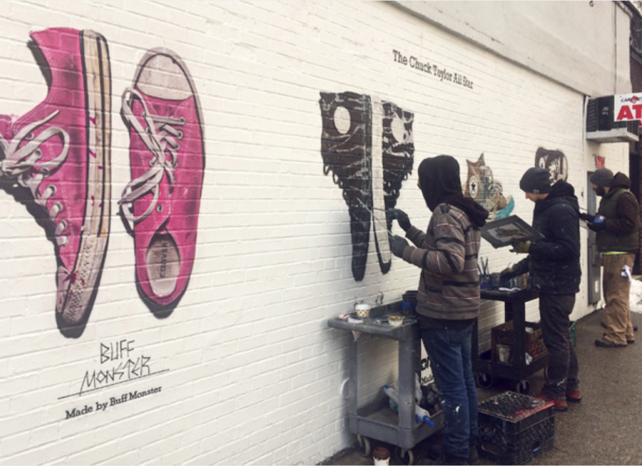 Converse New York Hand Paint