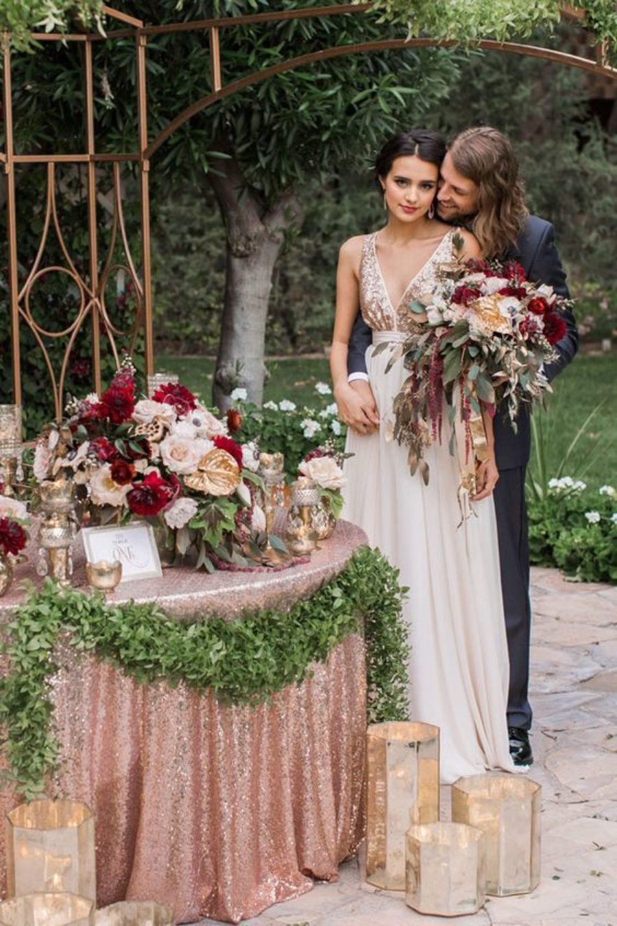 Metallic Wedding Styling Ideas 9