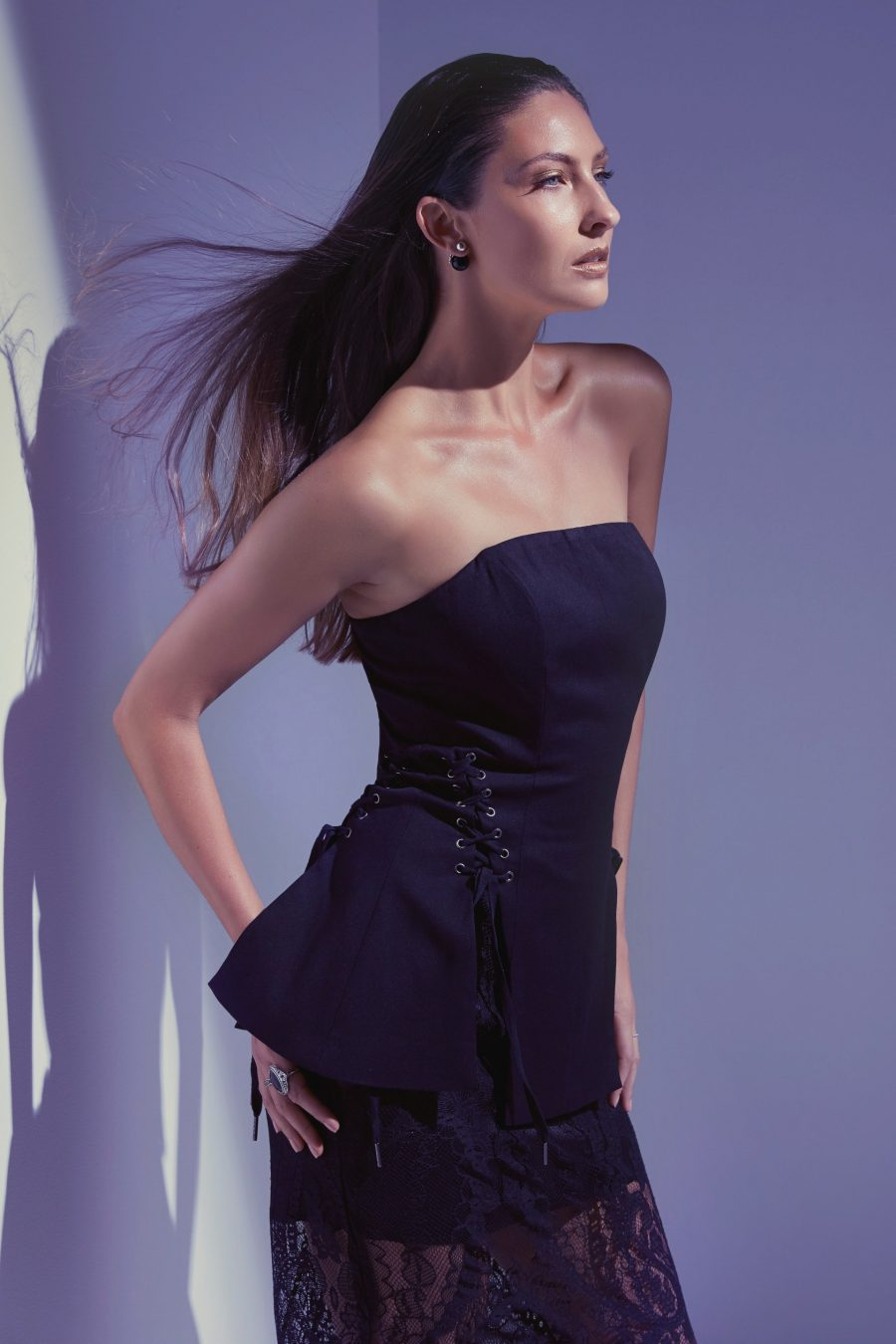 See Need Want Black Party Season Fashion Inspiration Corset Laceup Details
