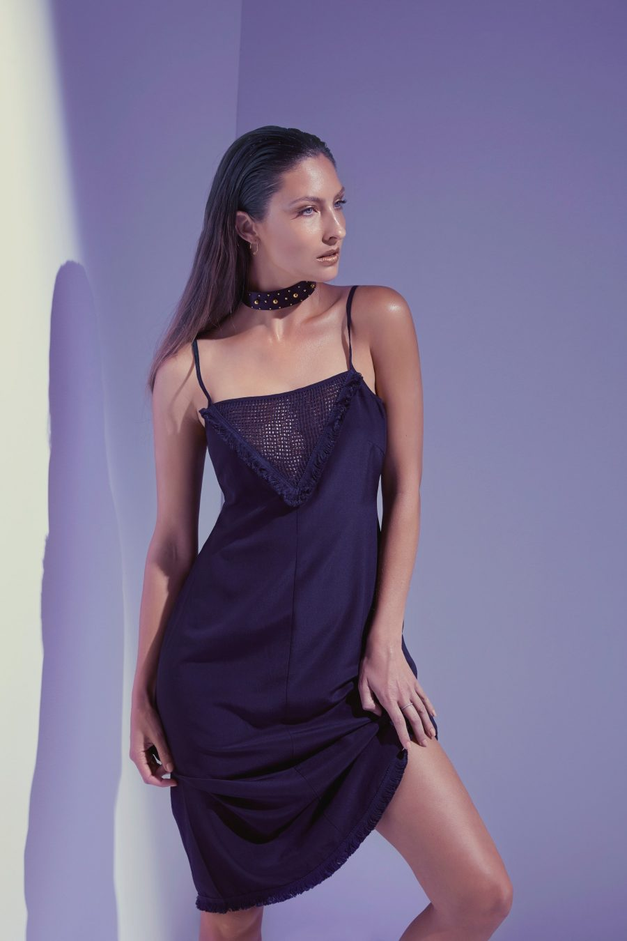See Need Want Black Party Season Fashion Inspiration Slip Dress