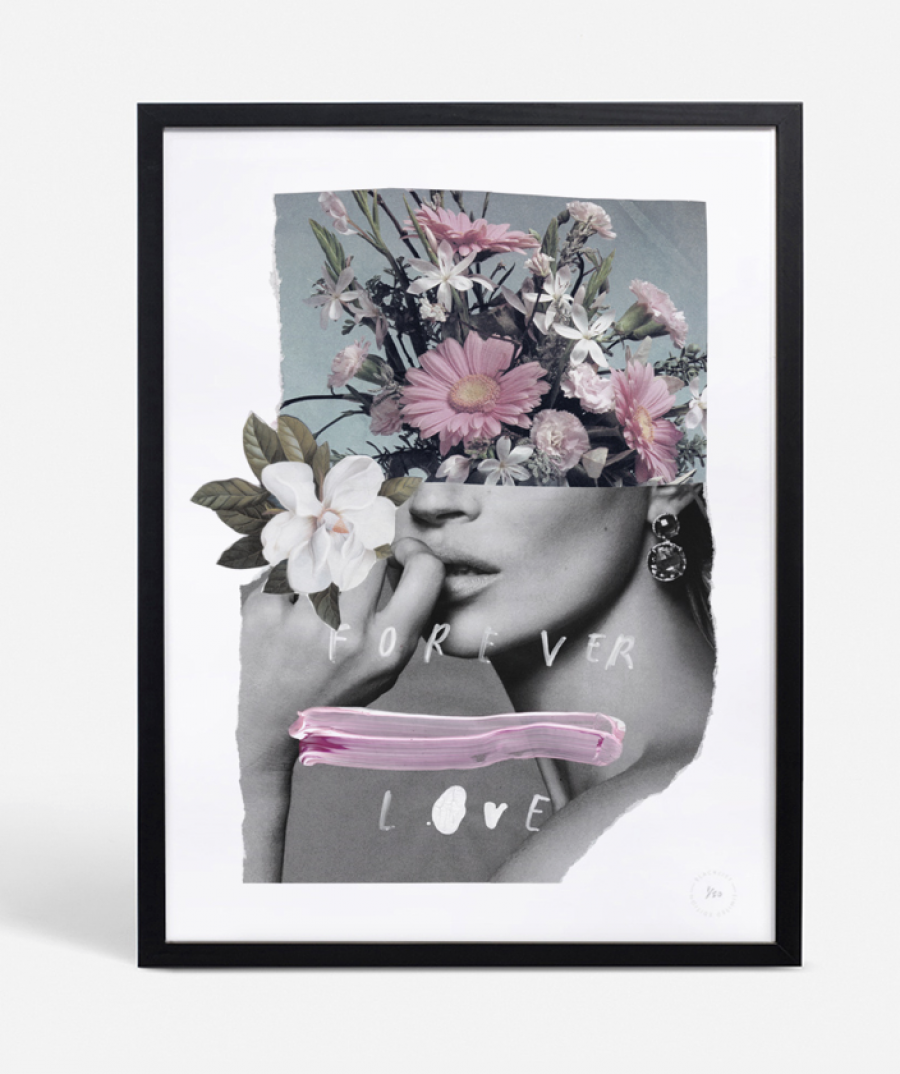 See Need Want Blacklist Floral Kate Moss Print