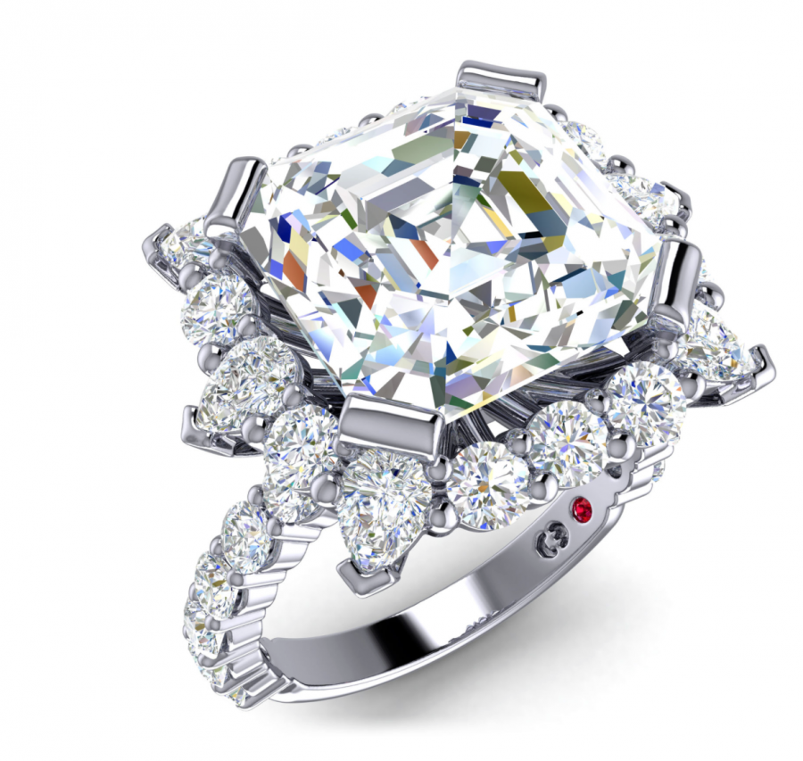 See Need Want Engagement Ring Trends Cassandra Mamone Asscher Diamond Ring 2