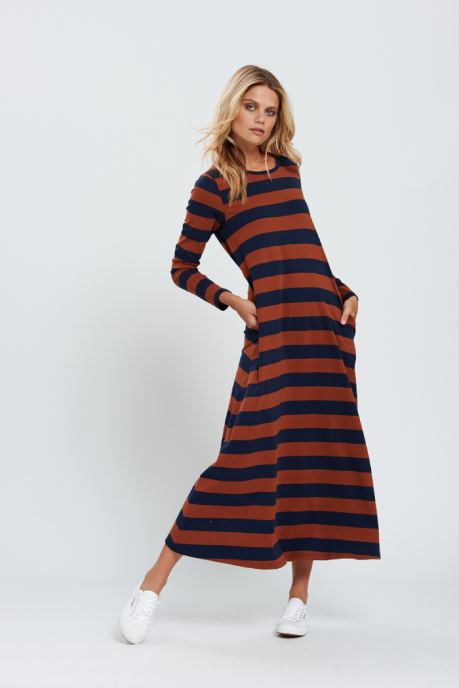 See Need Want Fashion Autumn Must Have Striped Maxi Dress Bohemian Traders