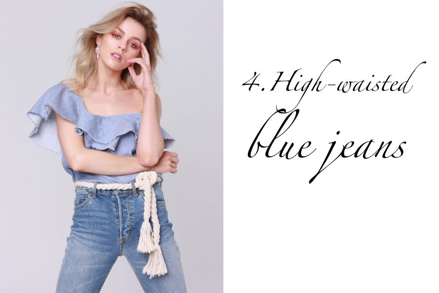 See Need Want Fashion Classic Beauty High Waisted Blue Jeans