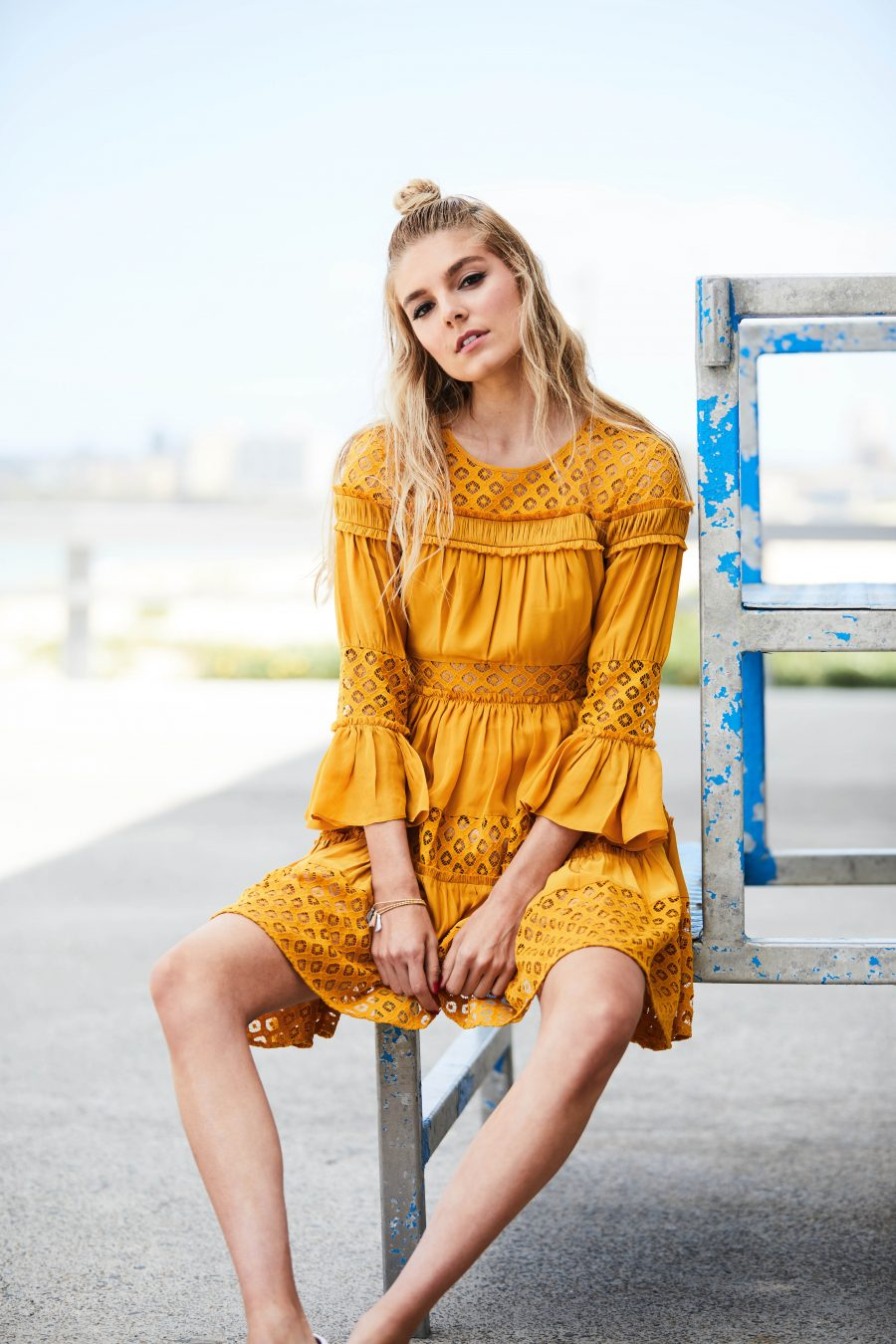 See Need Want Fashion Summer Street Style Trends Colour Yellow Pretty Dress 5