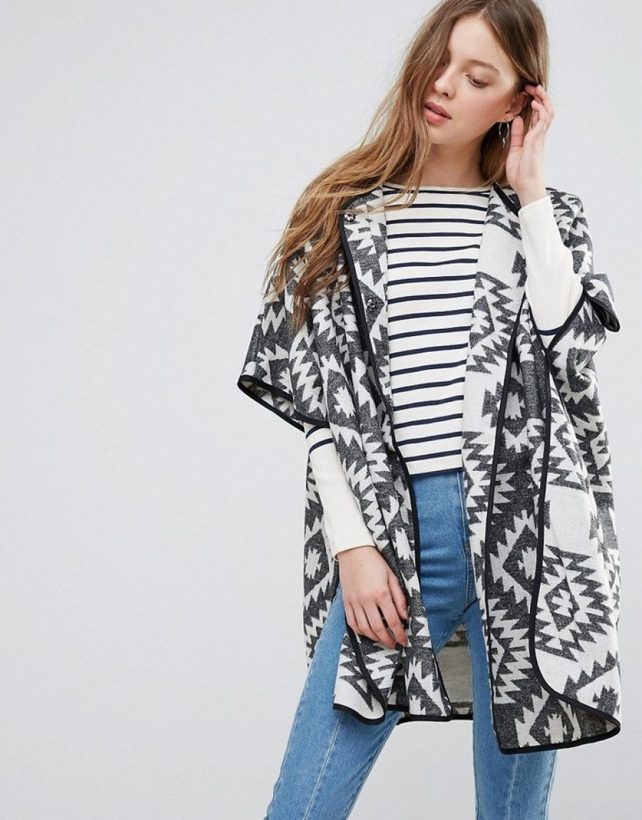 See Need Want Fashion Trend Cape Coat Aztec Print Asos