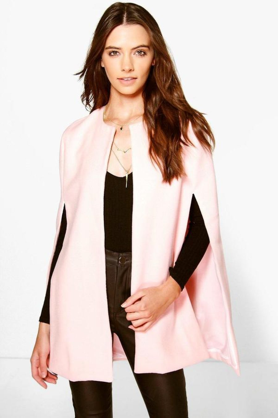 See Need Want Fashion Trend Cape Coat Boohoo