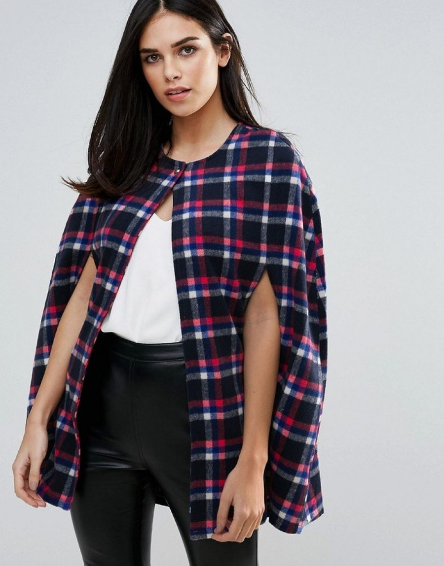 See Need Want Fashion Trend Cape Coat Check Asos