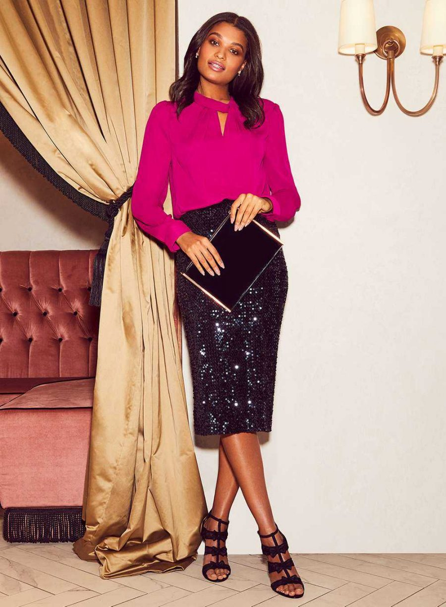 See Need Want Fashion Trend Sequinned Skirt Dorothy Perkins
