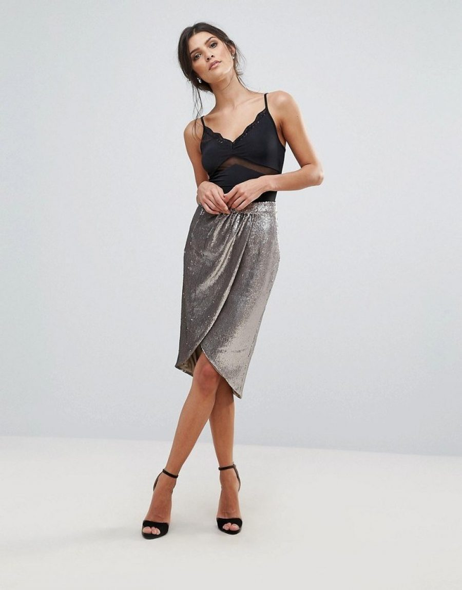 See Need Want Fashion Trend Sequinned Skirt Little Mistress