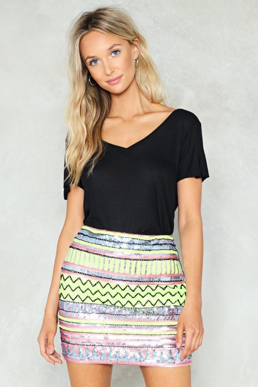 See Need Want Fashion Trend Sequinned Skirt Nasty Gal
