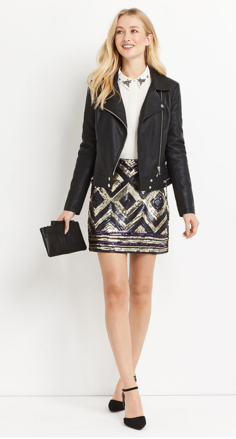 See Need Want Fashion Trend Sequinned Skirt Oasis