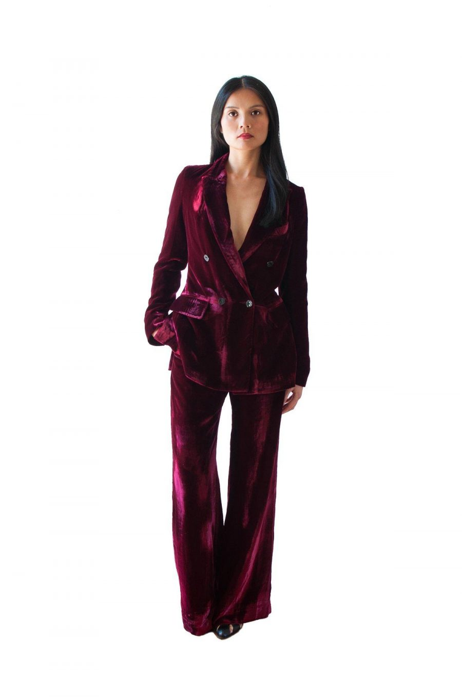 See Need Want Fashion Trend Velvet Suit