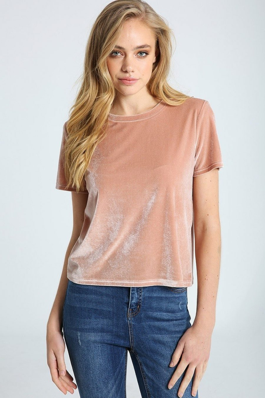See Need Want Fashion Trend Velvet Tee