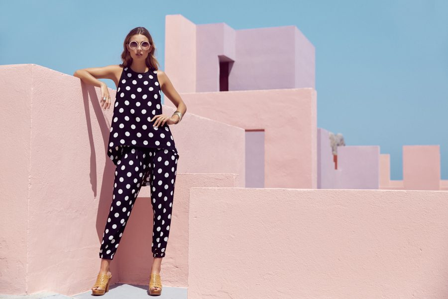 See Need Want Mister Zimi By The Sea Polkadot Print Suit