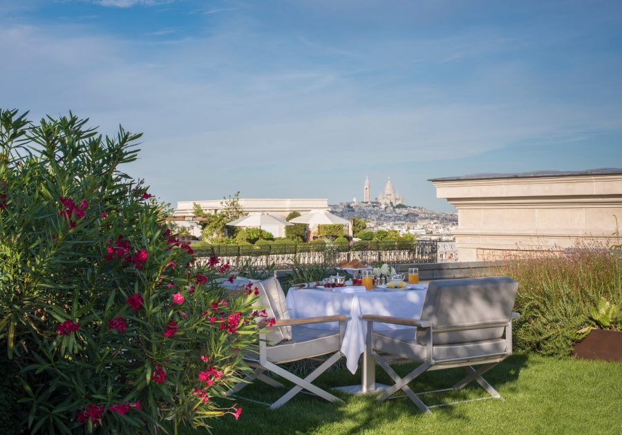 See Need Want Travel The Peninsula Paris Hotel Garden Suite View Montmartre